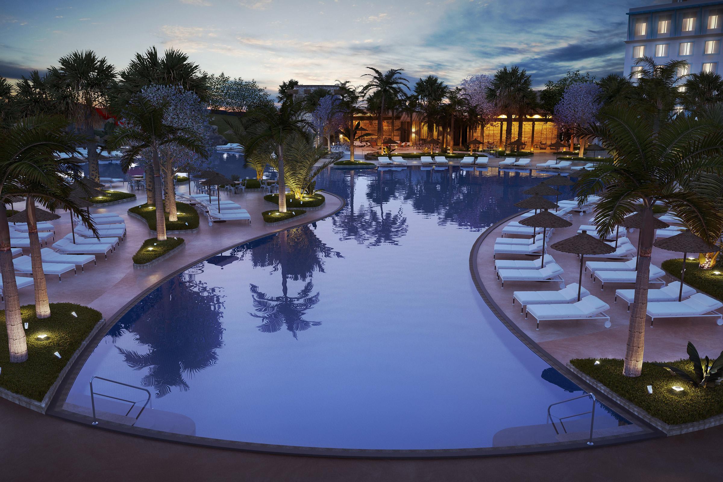 Pool, Resort, Exterior